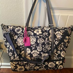 Vera Bradley Midnight Floral Midtown Travel Bag